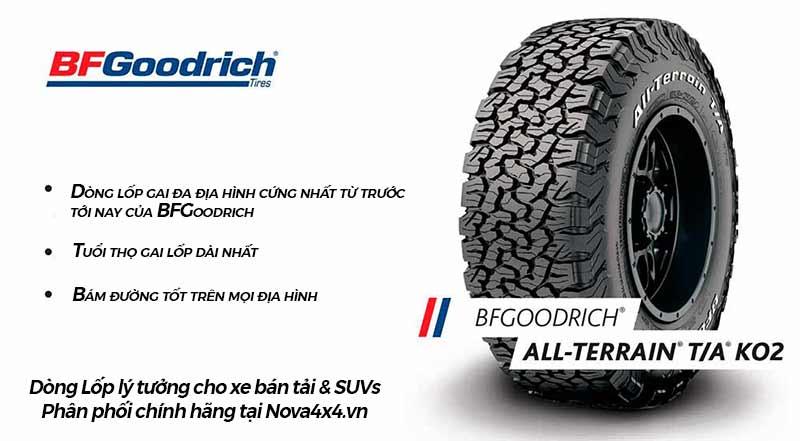 BFGoodrich All Terrain, thương hiệu lốp tốt nhất Thế giới