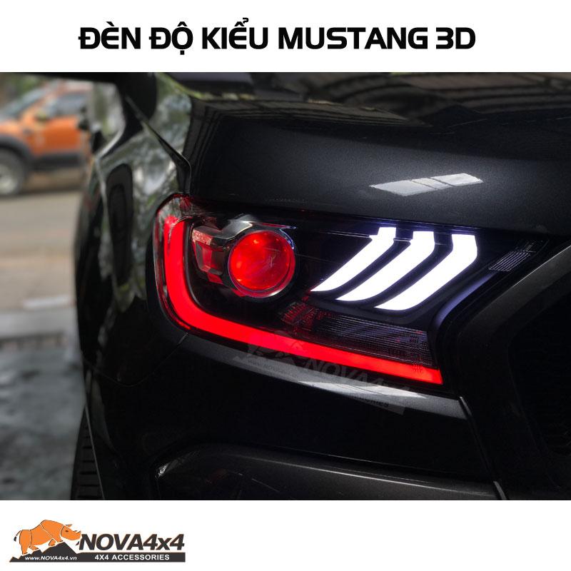Đèn độ Kiểu Mustang 3D 2018 Cho Ford Ranger Wildtrak Và