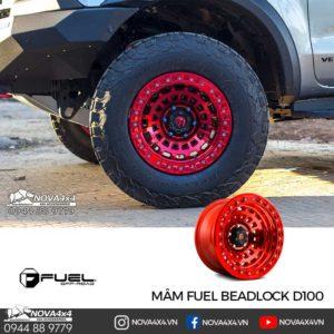 mâm Fuel Zephyr Beadlock D100 Màu Candy Red sành điệu