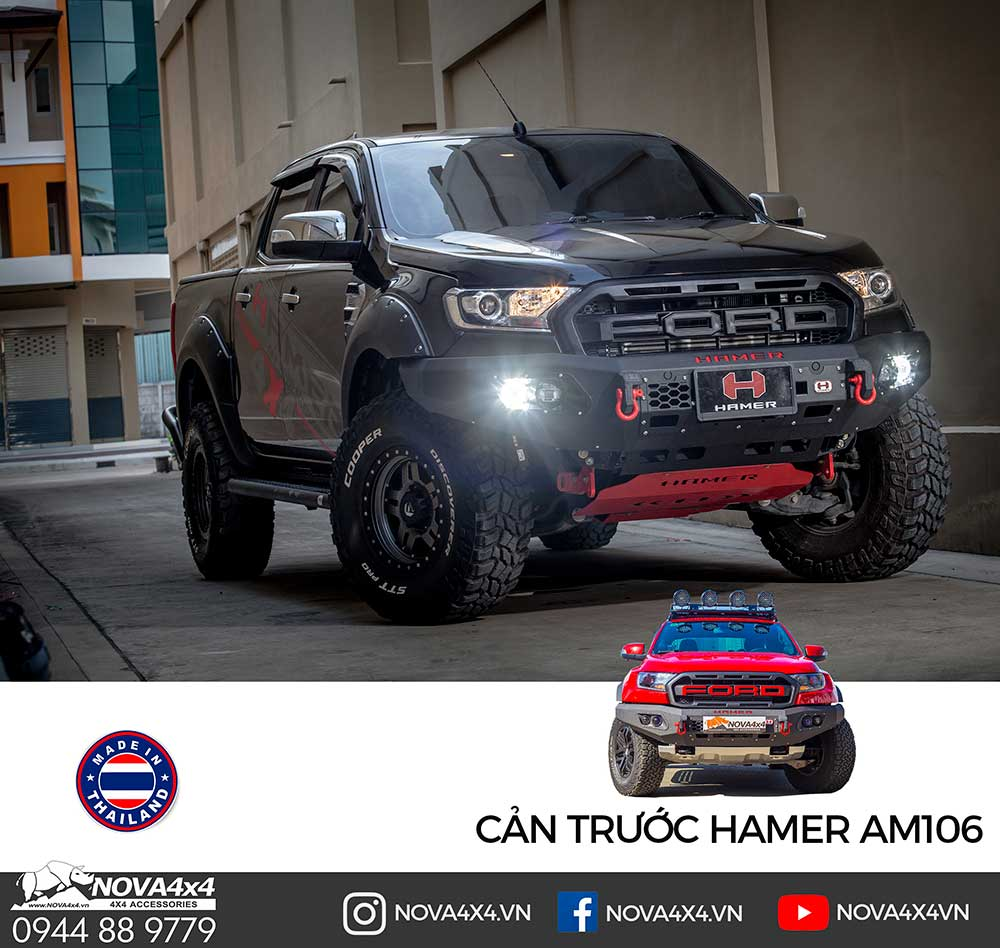 Cản Hamer King Series AM106 là model mới nhất, có sẵn cho Ford Ranger, Ranger Raptor