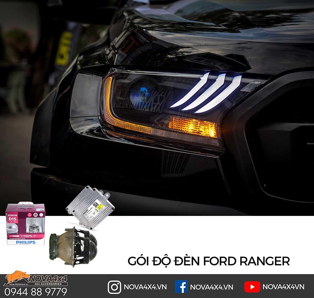 Gói độ Bi Xenon, trang trí Mustang và Mí LED