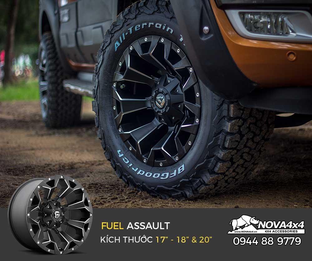 Mâm Fuel Assault nổi bật và cá tính trên bán tải Ford Ranger
