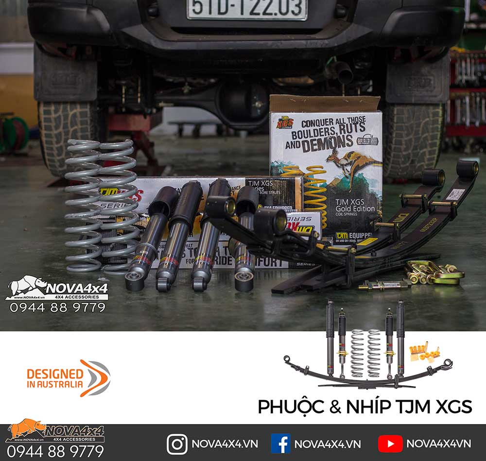 Bộ Phuộc & Nhíp TJM XGS cho xe bán tải, một giải pháp giảm xóc hiệu quả và kinh tế
