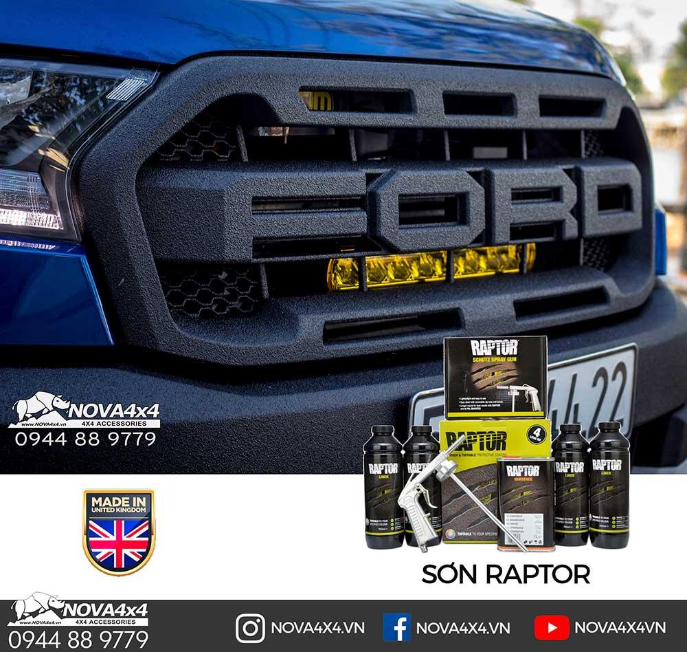 Sơn chống trầy Raptor, vật liệu sơn đặc biệt nhập khẩu từ Vương quốc Anh