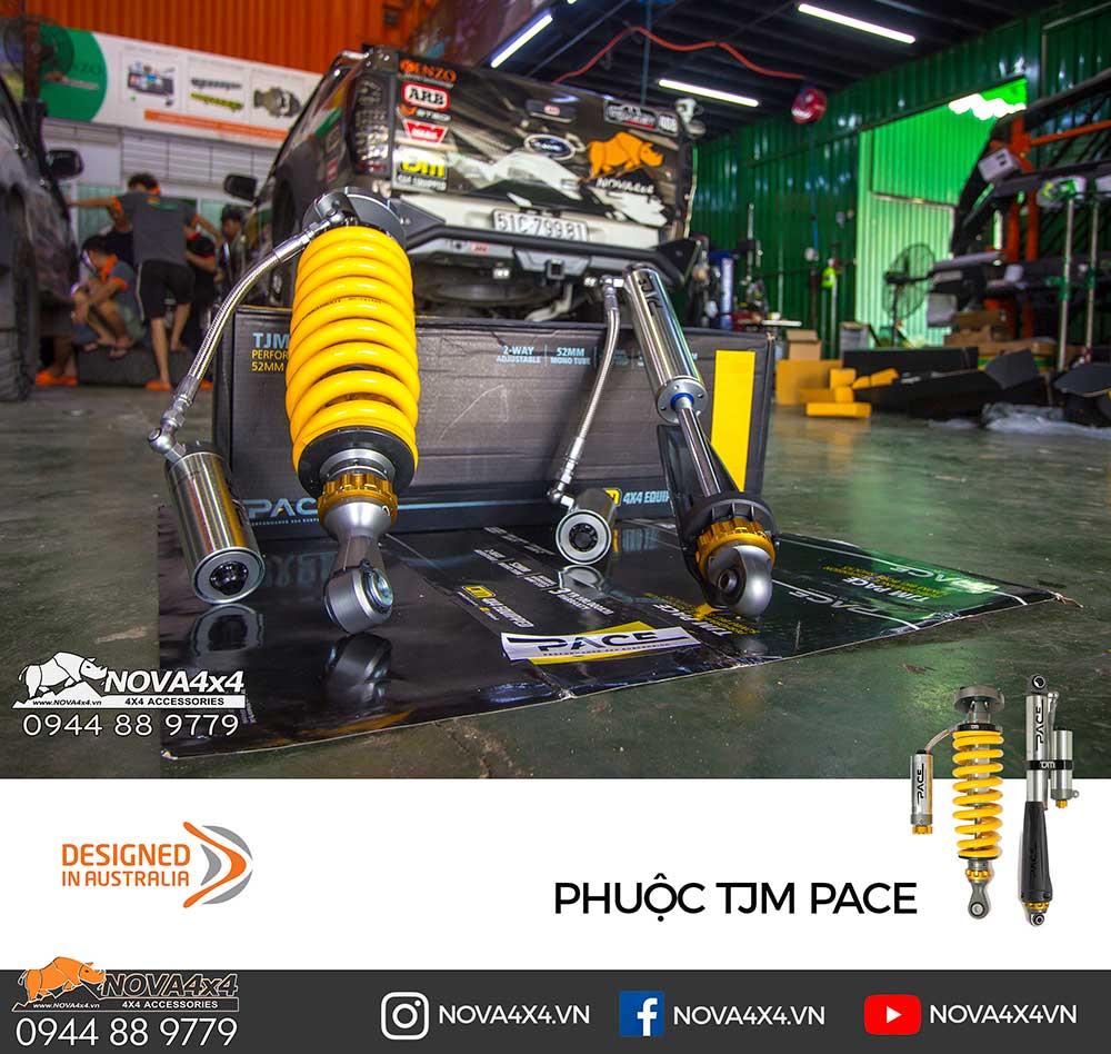 TJM Pace là bộ Phuộc cao cấp với khả năng điều chỉnh dễ dàng nhiều cấp độ