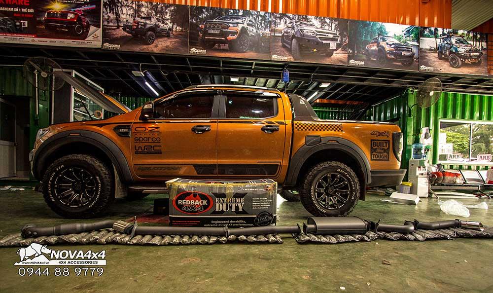 Ford Ranger được trang bị ống xả Redback Full System