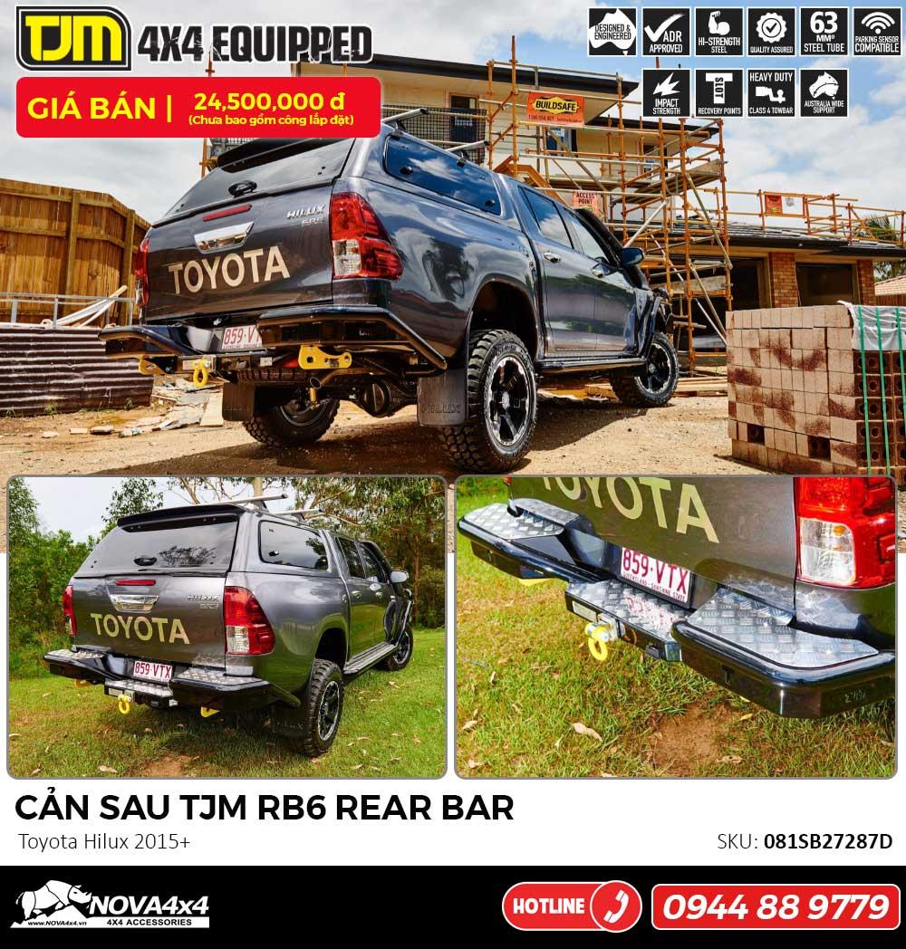 Cản sau TJM RB6 cho Toyota Hilux