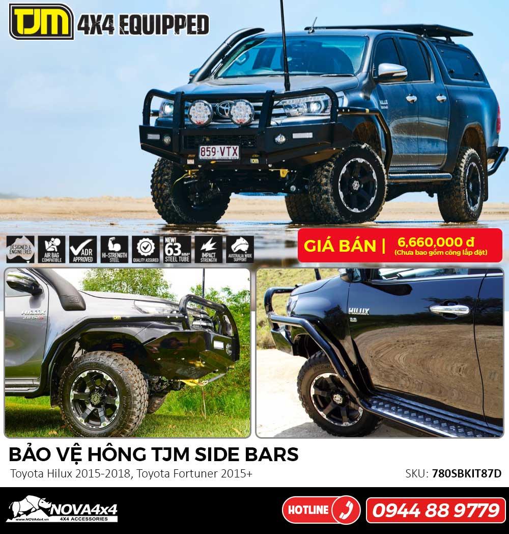 Bảo vệ hông TJM cho Toyota Hilux