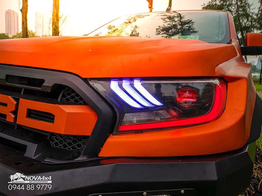 Gói độ đèn Ford Ranger với Bi Led Kenzo MX-5