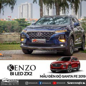 Độ đèn Hyundai Santa Fe 2019