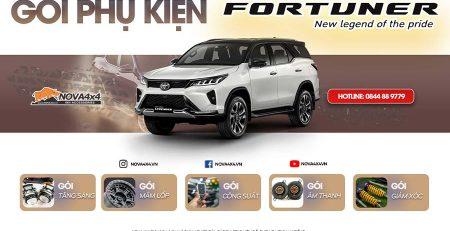 Gói phụ kiện Toyota Fortuner 2021