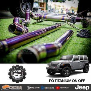 Pô Titanium cho Jeep Wrangler