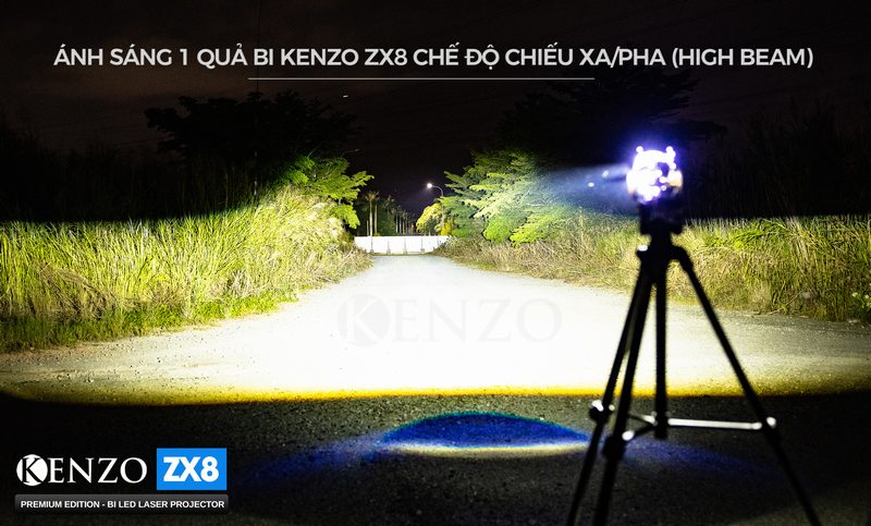 Ánh sáng Pha Kenzo ZX8