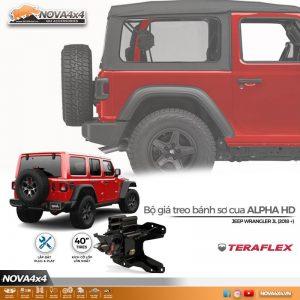 Giá treo bánh sơ cua xe Jeep